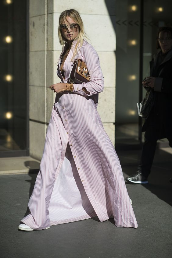 Subtle stripes in the softest shade of pink, perfect for summertime. The Best of fashion trends in 2017.