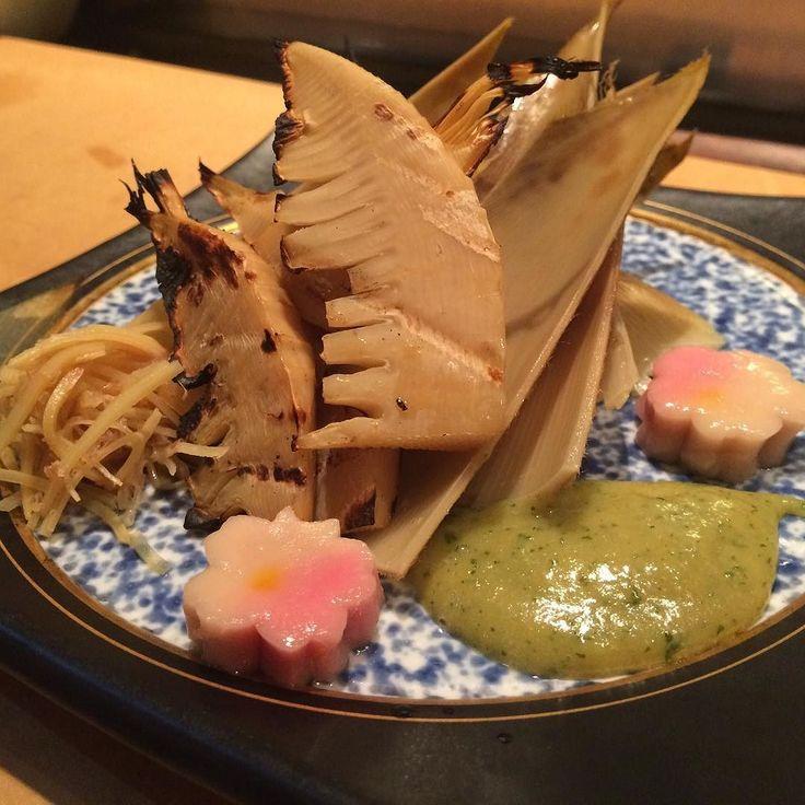 Yaki takenoko. #hirozen #omakase #kaiseki #LosAngeles #washoku #焼きたけのこ#会席 #和食 #おまかせ #木の芽味噌 by hirozen_gourmet