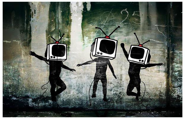 Banksy Television Head Dance Graffiti Art Poster 11x17