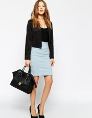 Ganni Classic Cotton And Lycra Pencil Skirt