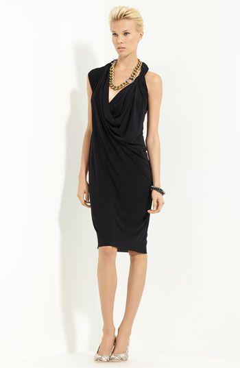 Lanvin Draped Techno Jersey Dress