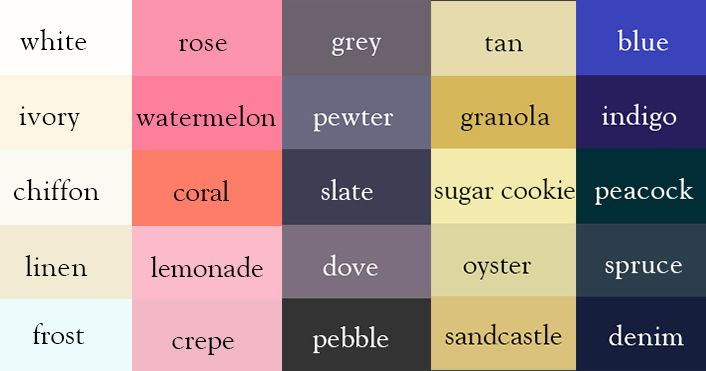 colors & names