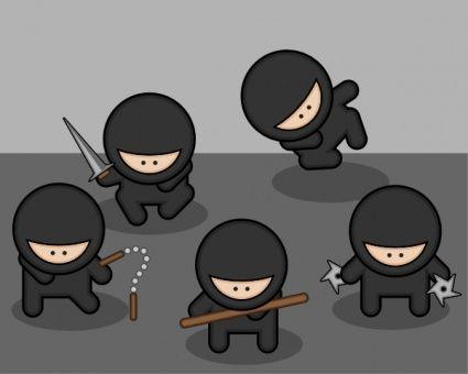 11 best cute ninjas images on pinterest | ninjas, martial arts and