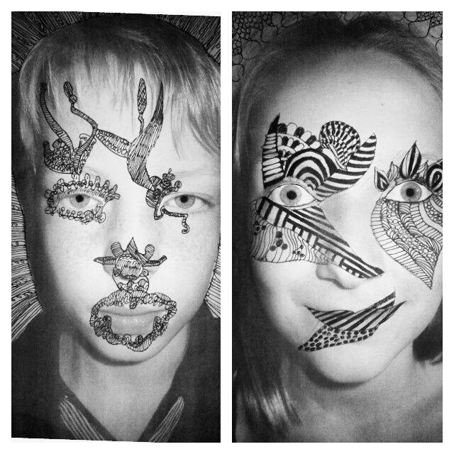 Kunst op je gezicht. Face Art groep 7