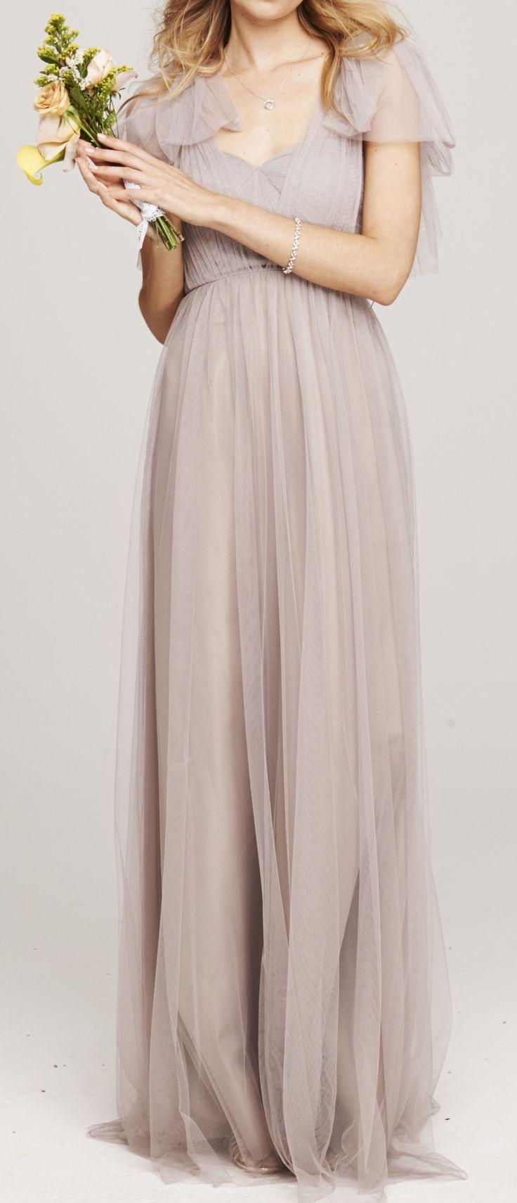 Grey Tulle Bridesmaid Dress