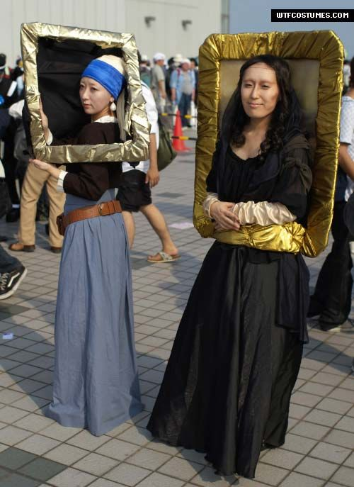 Mona Lisa and Girl With the Pearl Earring - Halloween costume ideas