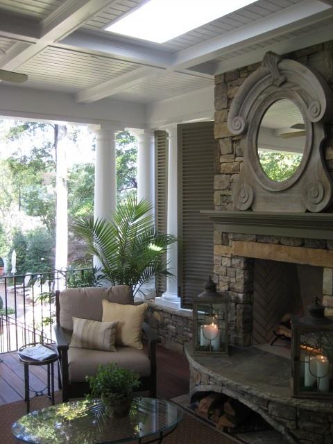<3Mirrors, Ideas, Outdoorliving, Outdoor Room, Back Porches, Outdoor Living Rooms, Outdoor Fireplaces, Outdoor Spaces, Design Studios