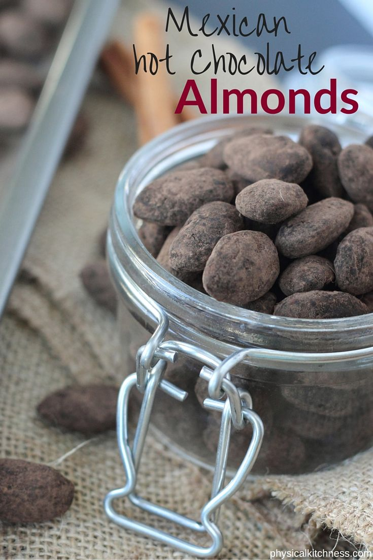 A healthy snack and impressive edible gift. Dark chocolate, cocoa powder and spices make these Mexican Hot Chocolate Almonds the easiest and yummiest nuts ever!