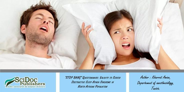 """""""STOP BANG"""" Questionnaire: Validity to Screen Obstructive Sleep Apnea Syndrome in North African Population International Journal of #Anesthesiology & Research (IJAR) #Sleep #STOPBANG"""