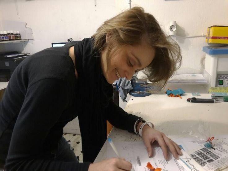 Irene preparing orders