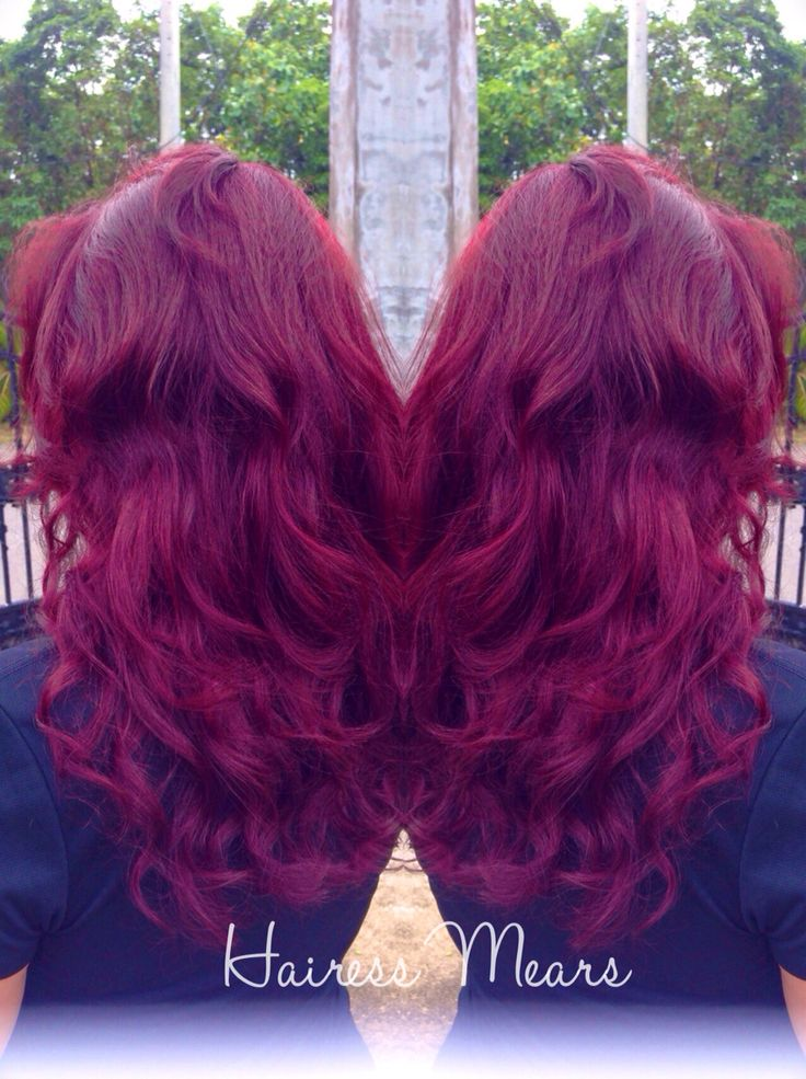 vibrant red glaze over a violet undertone natural level 4 olaplex pravana ig