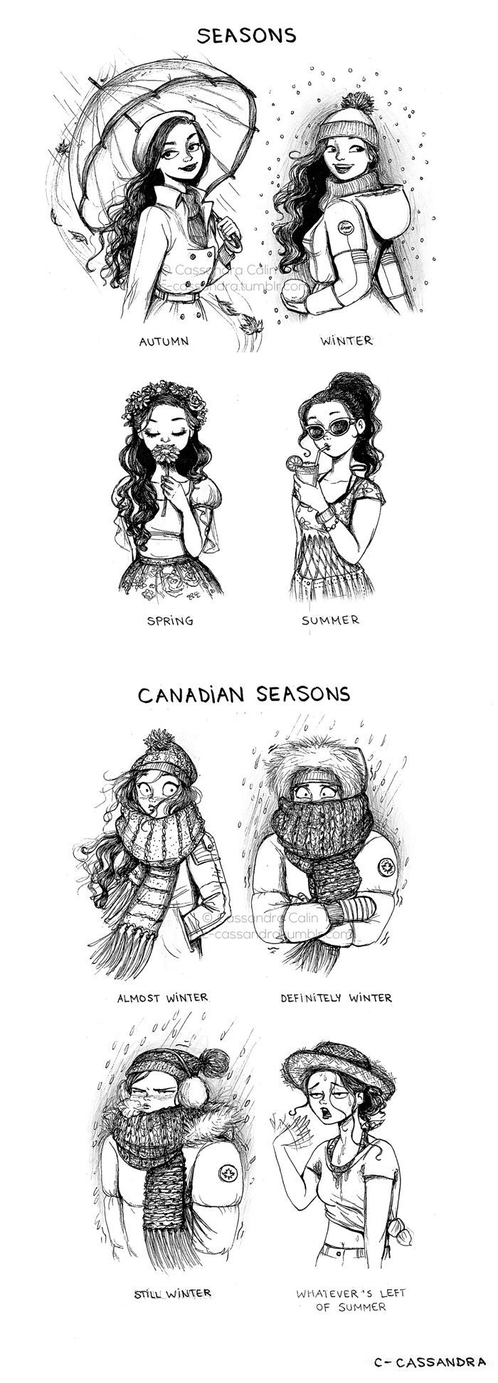 this is so true <<< my friends in Calgary had a blizzard early september