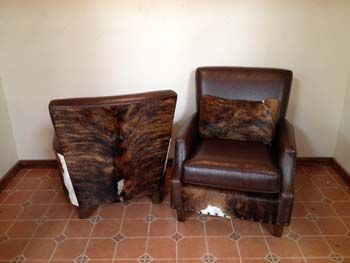 $1400 Southwest Living Room Furniture | Cowhide Furniture | Arlington Brazilian Cowhide Chair