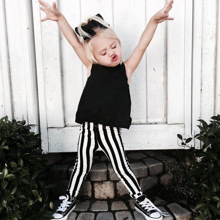"""Well, if Everleigh approves. Cross it Off Top + Punked Up Pencil Pants.  @foreverandforava @savv_soutas #onpoint #kidsfashion #littleedgethreads"""
