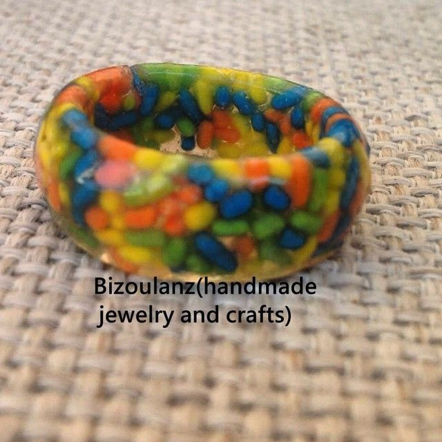 Real sprincle resin ring,first try to make a resin ring#resin#ring#sprincle#kawaii#cute#food#δαχτυλίδι#τρούφες#γλυκούλι#υγρόγυαλί