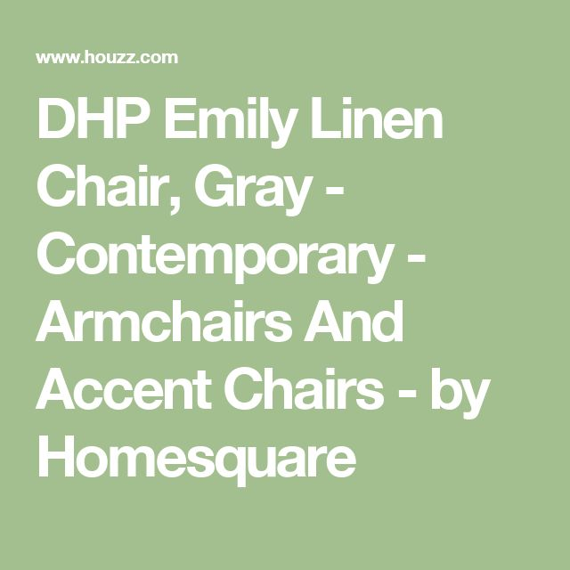 DHP Emily Linen Chair, Gray - Contemporary - Armchairs And Accent Chairs - by Homesquare
