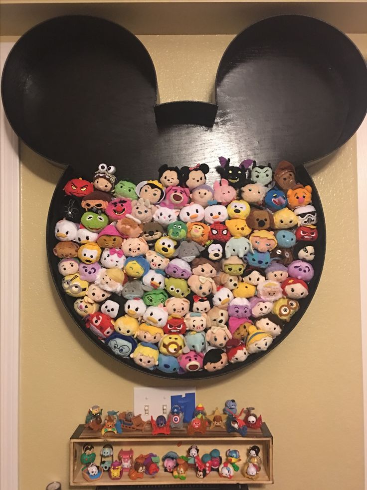 My Tsum Tsum Display created by my husband.