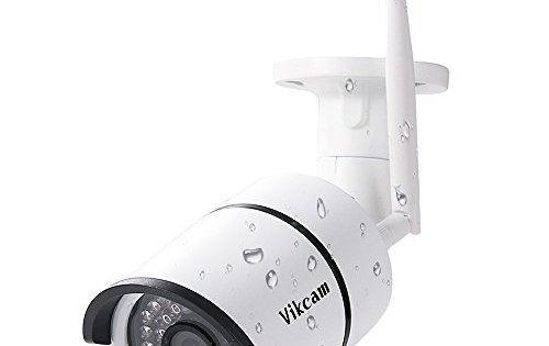 Vikcam Caméra de Surveillance Exterieur Sans Fil Caméra IP 720P HD WiFi, 36 LED, IR-Cut Vision Nocturne, Étanche IP66, Alerte de détection…