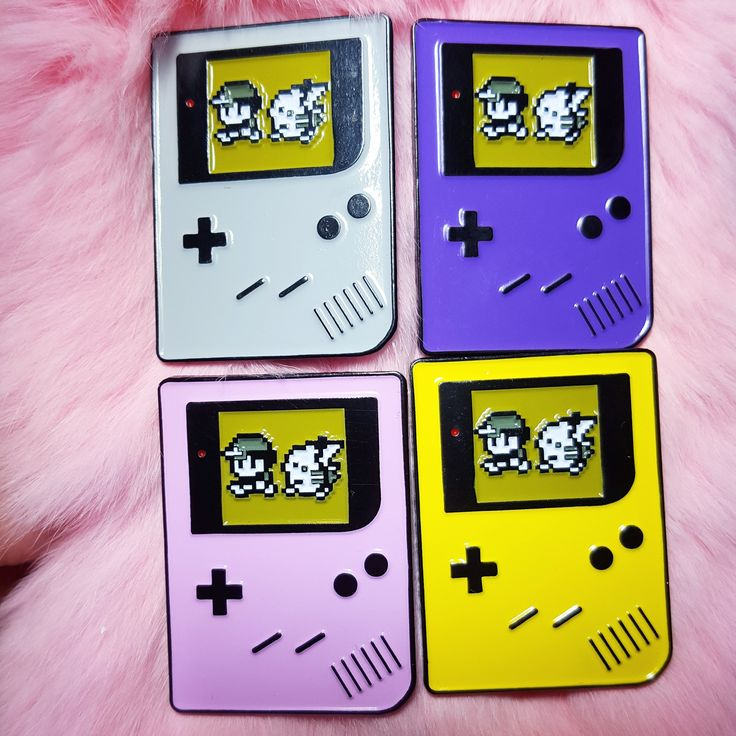 """Relive your childhood with this  Pokemon Yellow Gameboy soft enamel pin!Pin is 1.5"""".Has two posts and rubber clutches for an extra tight grip!These pins are inspired by the Gameboys ..."""