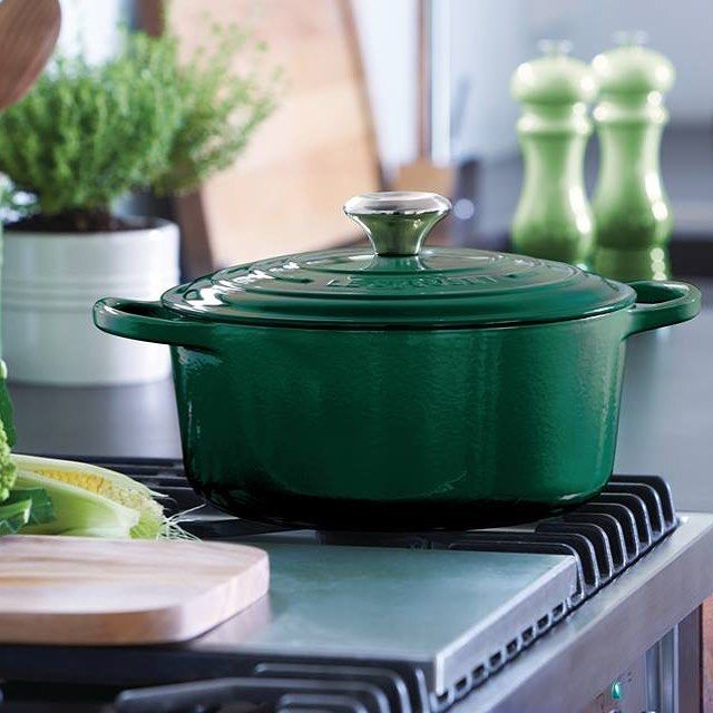 We Absolutely Love The New Le Creuset Kale It S A Lovely Warm Green That Looks As Nice In Contemporary Kitchens Does Rustic Ones