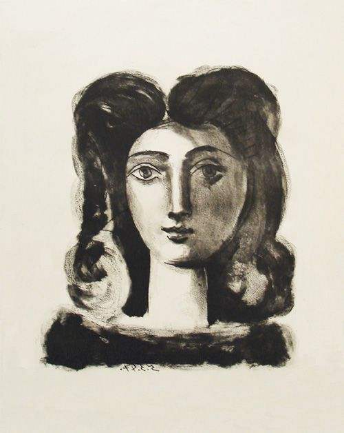 "Pablo Picasso, ""Tête de Jeune Fille"", 1947, Lithograph printed on Arches wove paper"