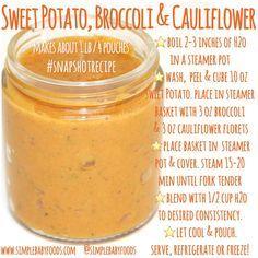 Sweet Potato, Broccoli, & Cauliflower Puree