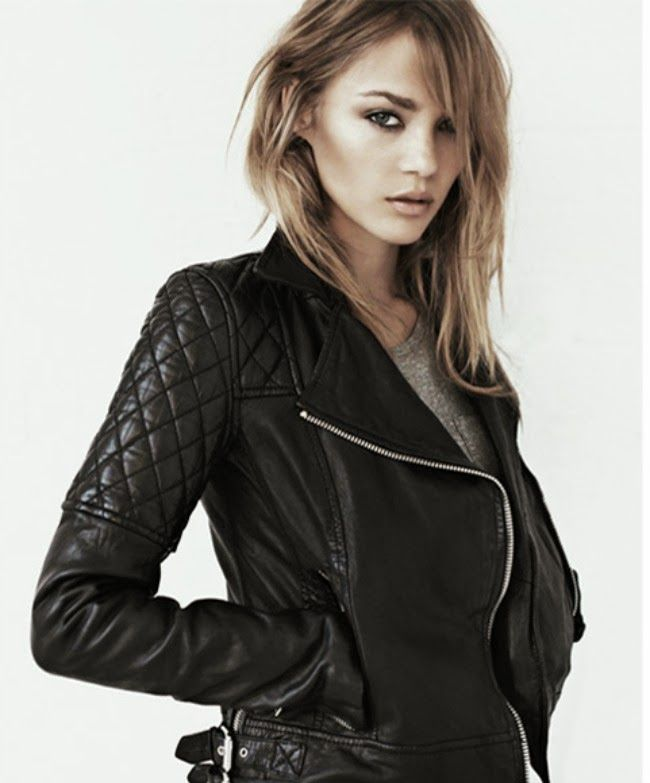 The perfect black biker leather jacket - All Saints 'Walker' or similar