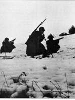Brazilian patrol in the Italian winter