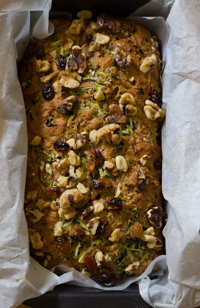 Whole Grain Zucchini Bread with Honey & Walnuts from @theclevercarrot