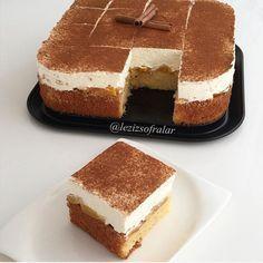 Bu pasta lezzeti ve hafifligiyle benim favorim mutlaka denemenizi tavsiye ederim ☺️ Fantali pasta Keki icin:  3 yumurta 1 cimdik tuz 100 g tozseker 80 ml siviyag 100 ml fanta (fanta yerine sodada kullanilabilir) 100 g un 100 g nisasta Yarim paket kabartma tozu  Kremasi icin: 200 ml sivi krema(sahne) 400 g labne (schmand) 2 paket krema sertlestirici (bulamayanlar kremsanti tozuda kullanila bilir) 2 yemek kasigi pudra sekeri  Ayrica:1 kutu konserve seftali ve üzeri icin tarcin  Yapilisi:Firin…