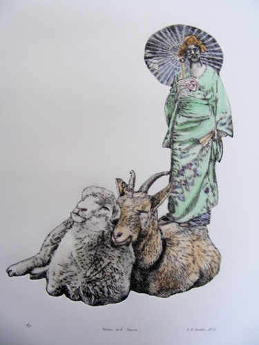Esther Hansen, Honour and Shame, 2013, etching