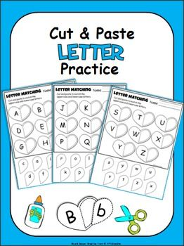 FREE! For the month of February, I've created three cut and paste letter activities and two pages of letter writing practice activities.   The entire alphabet is included. Great for Valentine's Day.  Students cut out the lowercase letters and paste them next to the matching uppercase letters.