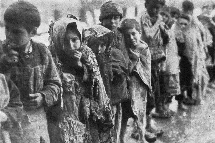 Young victims of the Armenian Genocide during the First World War, it was a major tragedy and saw the Ottoman Empire vilified throughout the world.