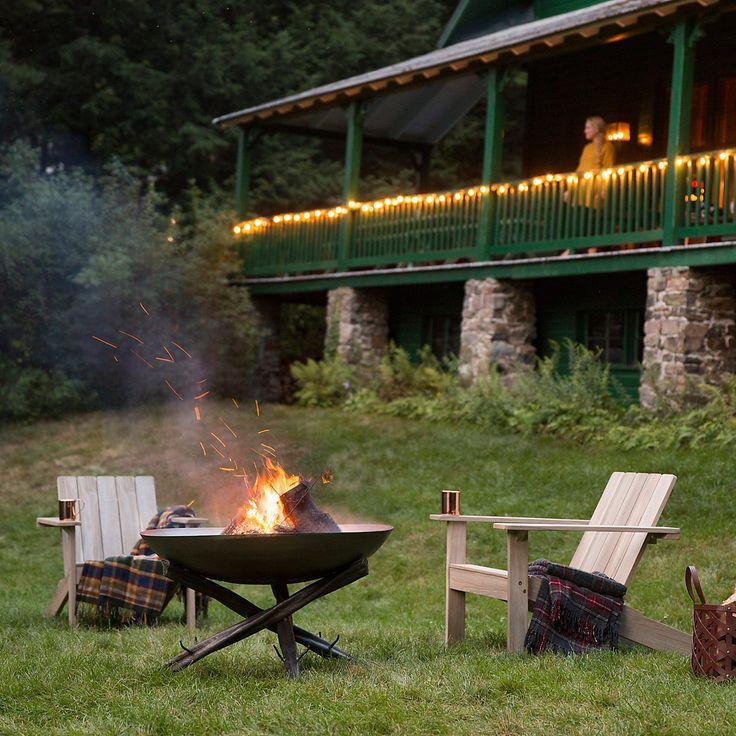 Tabletop Log Base Fire Pit