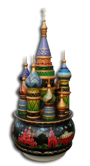 """St. Basil's Cathedral"" Music Box"