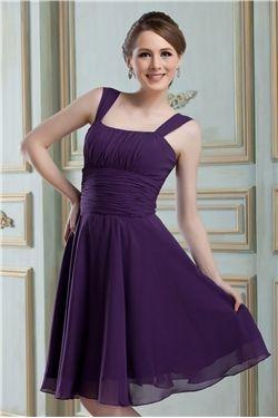 Classic A-Line Square Neckline Knee-Length Nadya's Bridesmaid Dress & informal Bridesmaid Dresses