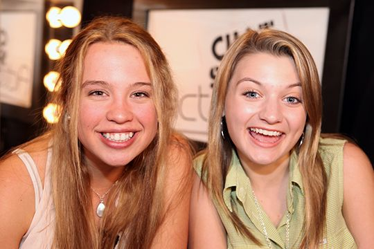 Teen Actress Evie Louise Thompson and Teen Actress Singer Host Laci Kay on ActorsE Chat photo by John Michael Ferrari