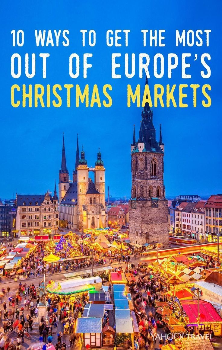 Here's how to get the best sweets, treats, and gifts at the most festive holiday markets in Europe. (Photo by iStock. Design by Lauren DeLuca for Yahoo Travel.)