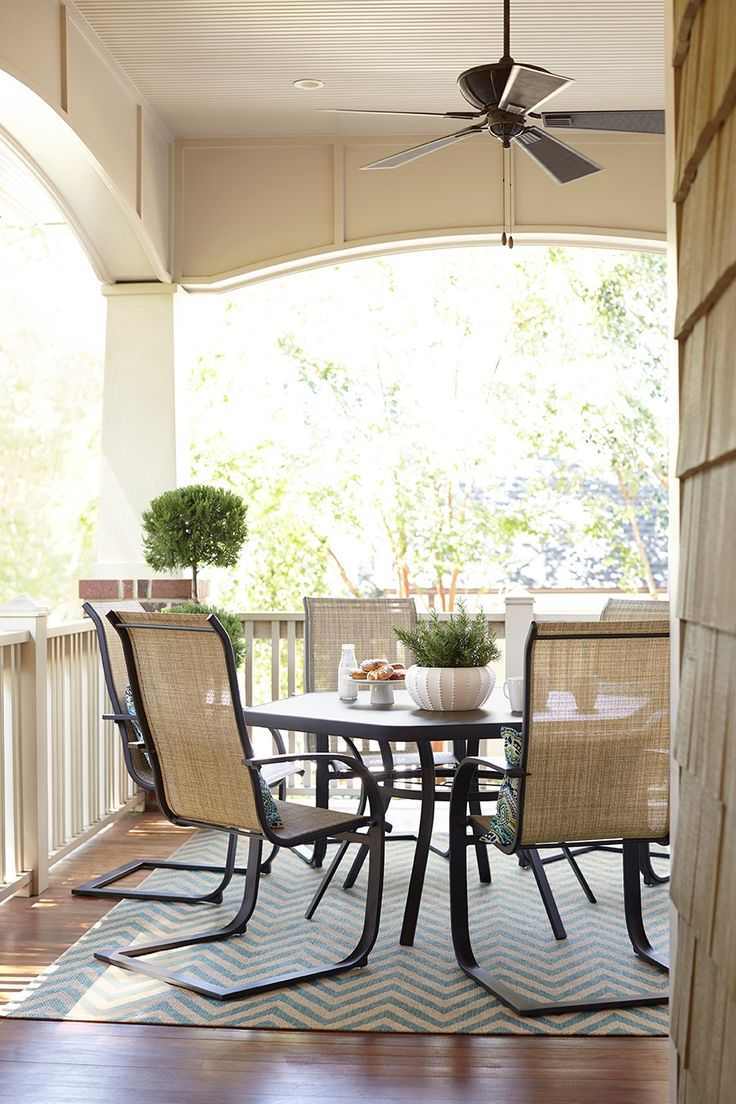 Deck amp patio furniture are often neglected when hiring a pressure - Enjoy A Meal And A Warm Breeze On The Porch With A Spacious Glass Patio Table