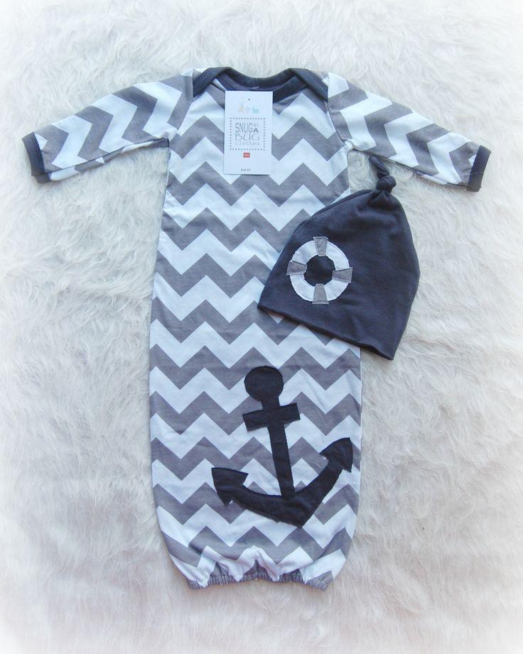 Costume gris nautique bébé garçon robe Coming Home avec