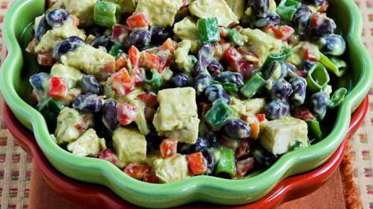 with black beans red bell pepper and southwestern black bean salad ...