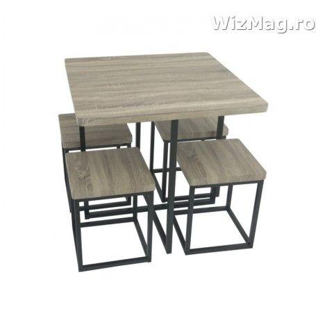 Masa bucatarie WIZ cu scaune mbs-6 nut