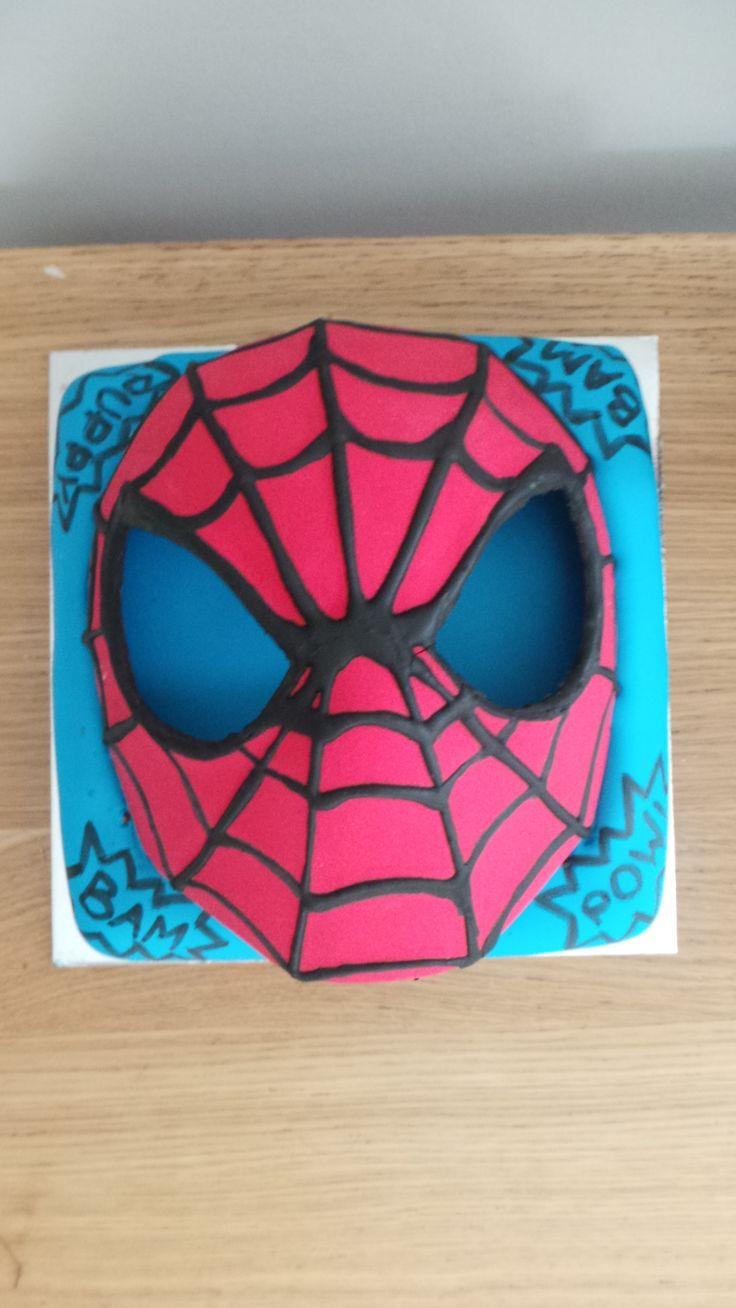 Shame I didn't get a better shot but this is my spiderman mad 3 yr old's birthday cake. The mask was edible :)