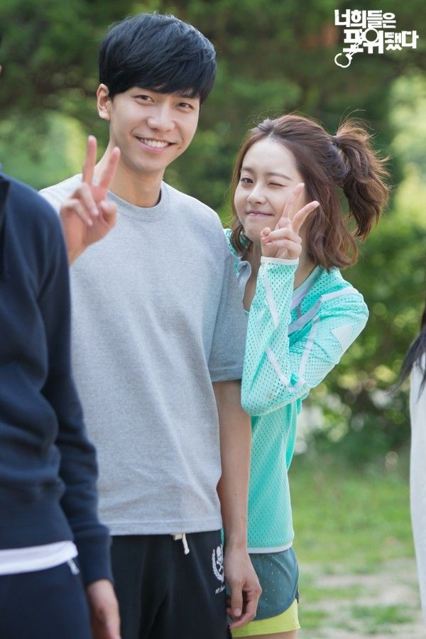 """Lee Seung Gi y Go Ah Ra BTS """"You're All Surrounded"""""""