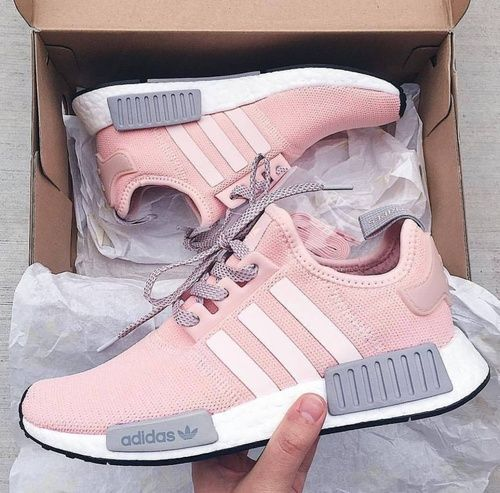 Pink and mauve trainers