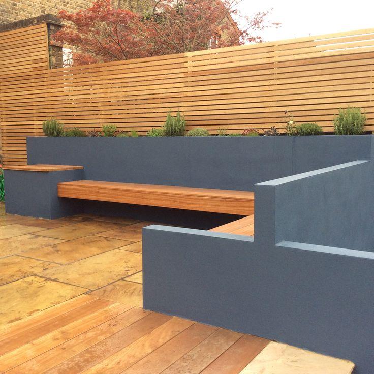 Raised beds and seating modern landscape design for Modern garden beds
