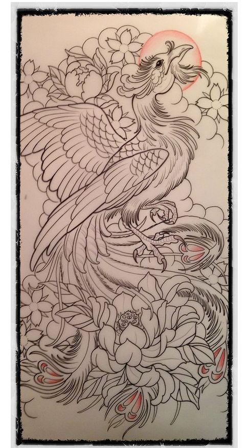 www.oldcenturytattoo.com......use a different phoenix...but love the background surrounding it for a sleeve