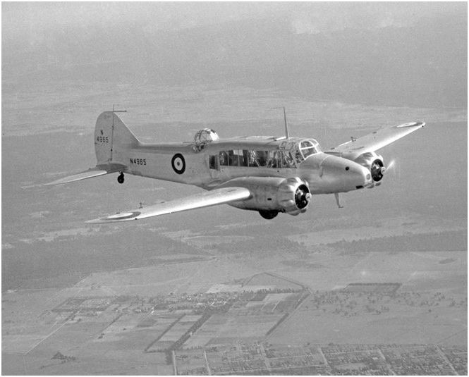 Avro Anson Mk 1 Royal Australian Air Force over New South Wales 1940