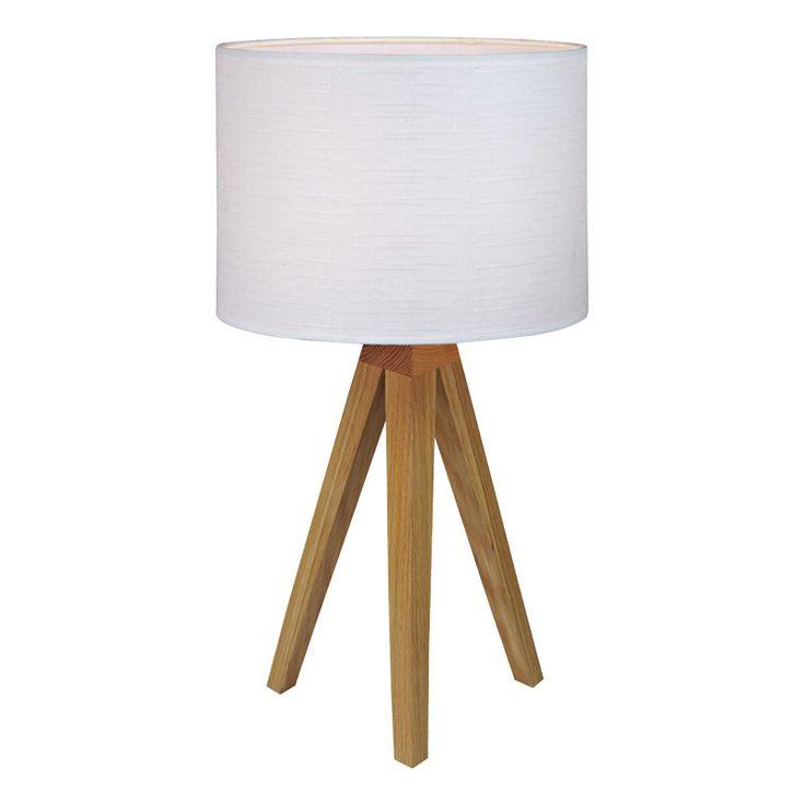 Kullen bordslampa ek vit Markslöjd bordslampa Kullen. En fin bordslampa med fot i ek och vit skärm med struktur. Strömbrytare på sladden. Passar på flera