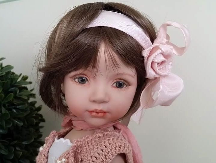 https://www.flickr.com/photos/142048441@N07/shares/7n51bU |porcelain doll, painted eyes, made from a Dianna Effner mold by Laura Corti Dadatti #diannaeffner #dolls